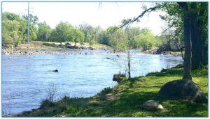 The beautiful Appomattox River.