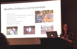presentation slide balancing culture and mission by focusing on the Benefits of Alliances and Partnerships for Cultural Resources on Military bases