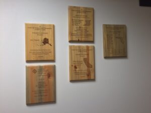 CEMML's Outstanding Award plaques over the years