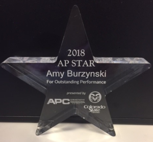 a star shaped engraved trophy